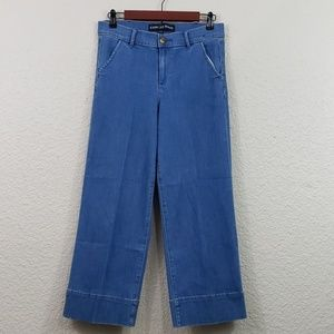 Express High rise crop flare Jeans size 8